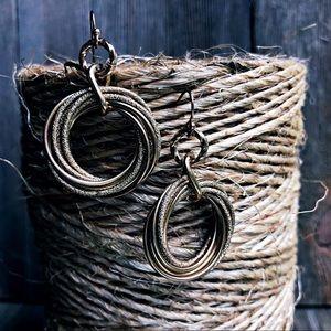 Golden classic hoop earrings